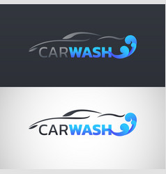 car wash service logo design vector image
