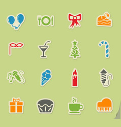 celebration icon set vector image