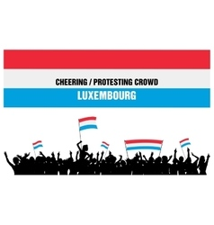 Cheering or Protesting Crowd Luxembourg vector image