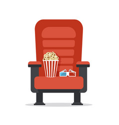 Cinema seat isolated on white vector