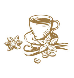 Coffee cup sketch vector