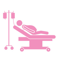 color silhouette pregnant woman in stretcher vector image