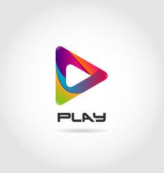 Colorful play logo sign symbol icon vector
