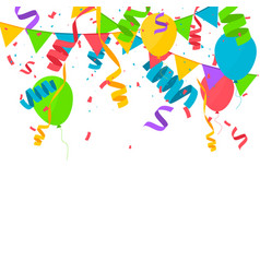 confetti in flat style vector image