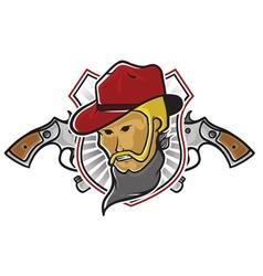 Cowboy With Pistols vector