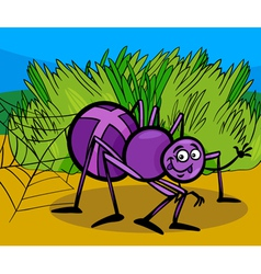 cross spider insect cartoon vector image vector image