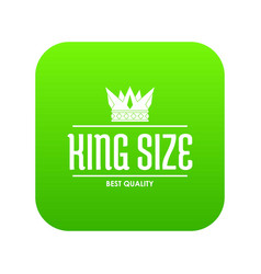 crown gold icon green vector image