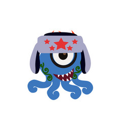 Cute and funny monster avatar - animated cartoon vector