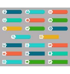 Donate and buying concepts flat buttons set vector