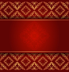 Elegant background in red and gold vector