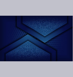 Elegant blue background with overlap layer vector