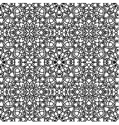 Ethnic floral seamless pattern with vector