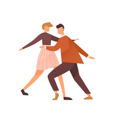 faceless pair dancing lindy hop or boogie woogie vector image