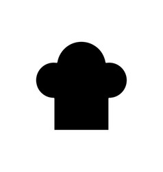 flat chef hat icon vector image