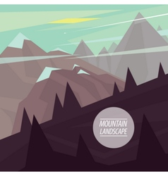 Flat mountain landscape with steep slopes vector
