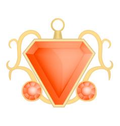 Garnet gemstone mockup realistic style vector