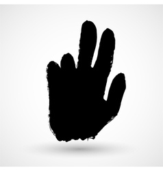 Grunge hand icon vector image