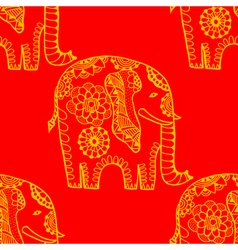 Hand Drawn Ethnic Elephant vector