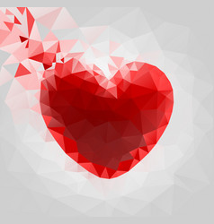Heart made triangles vector