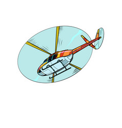 helicopter air transport vector image