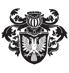 heraldic silhouette no1 vector image