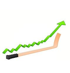 Hockey stick growth vector