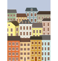 houses of the old European city vector image