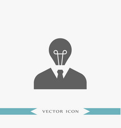 human with bulb icon simple idea sign vector image