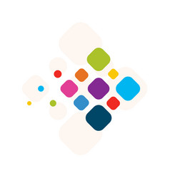 Icon flying colorful diamond abstract design of a vector