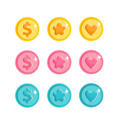icons game elements vector image