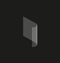 Isometric geometric font line blend style letter vector