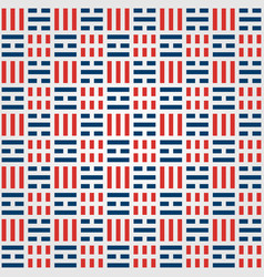 korean pattern background with flag symbol vector image