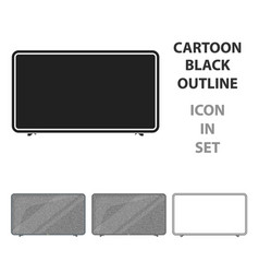 lcd television icon in cartoon style isolated on vector image