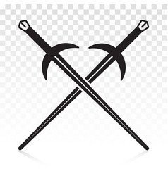 Longsword long sword crossed flat icon for apps vector