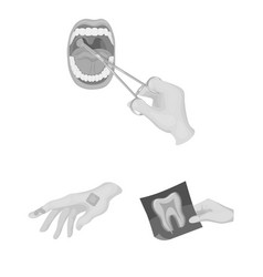 Manipulation by hands monochrome icons in set vector