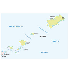 map russian island group habomai vector image