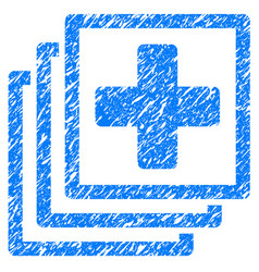 Medical docs grunge icon vector