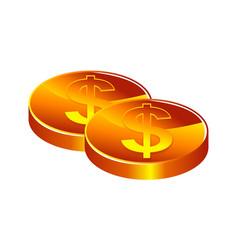 money stack logo design template vector image