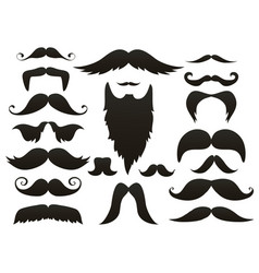 Moustache mustache icon isolated setfunny fake vector