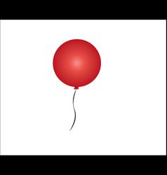 Opaque red balloon image vector