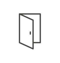 open door icon outline entry line door sy vector image