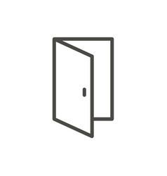 open door icon outline entry line door sy vector image