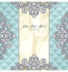 Pale blue vintage banner vector