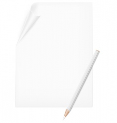 pencil and paper vector image vector image
