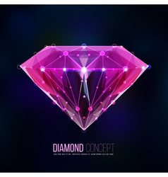 Pink diamond shape vector image