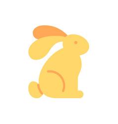rabbit flat color icon vector image