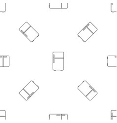 Retro fridge pattern seamless vector