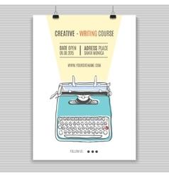 Retro typewriter poster vector