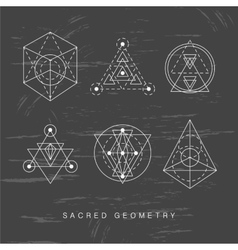 Sacred geometry signs set vector image
