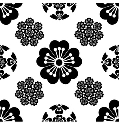 Sakura seamless stylized flower Japanese symbols vector